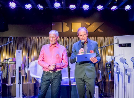 4 - Andreas Haug and Tom Schönherr welcome the guests in the BIX Jazzclub, Stuttgart