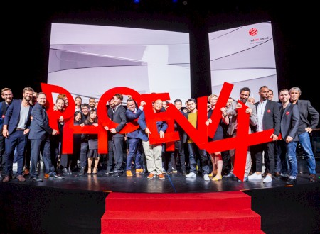 "1 – Phoenix Design on stage to be awarded the ""Red Dot: Design Team of the Year 2018"""